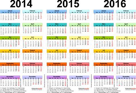 Word Vorlage Jahreskalender 2016 Dreijahreskalender 2014 2015 2016 Als Word Vorlagen Zum Ausdrucken