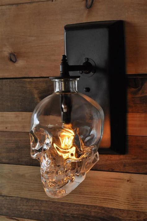Mason Jar Candle Chandelier Lighting Expert Creates A Spooky Skull Wall Sconce From