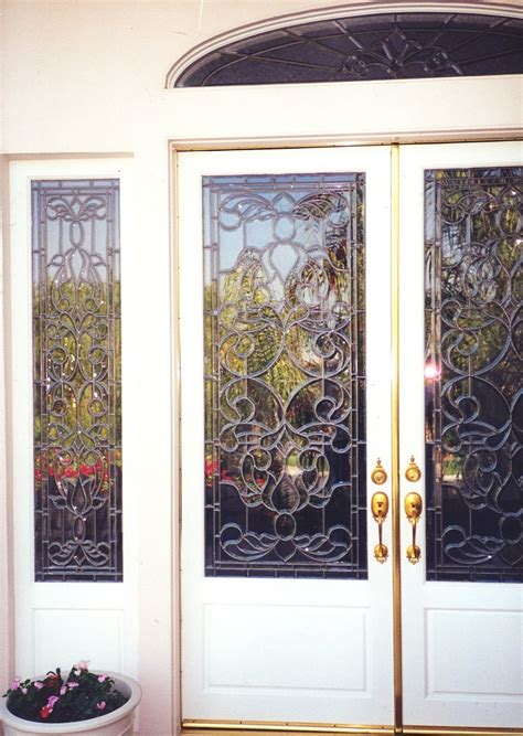Beveled Clusters Leaded Door Glass Inserts Sans Soucie Beveled Glass Doors