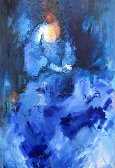 Gaun Dress White Graffiti Flower S Import Original saatchi in blue dress painting by kwaschny lidiya