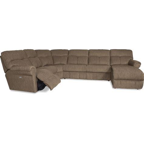 La Z Boy Sheldon Casual Four Piece Reclining Sectional La Z Boy Chaise Sofa