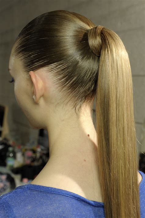 show me ponytail hairstyles sleek shiny ponytail
