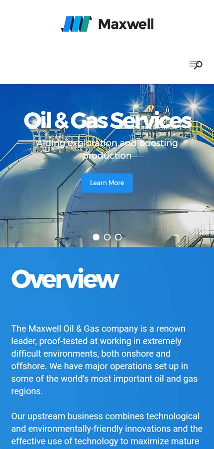 Maxwell Oil Gas Company Responsive Wordpress Website And Gas Company Website Template