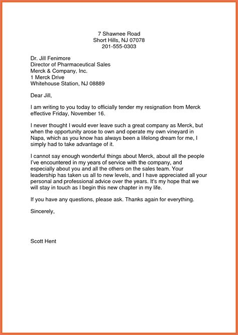 Exle Of Resignation Notice by Letter Of Resignation Exles Bio Exle
