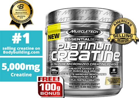 Muscletech Platinum Creatine 400 Gram 1 platinum 100 creatine powder muscletech