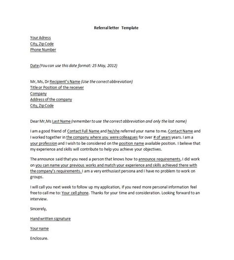 friend referral cover letter 28 images cover letter exle