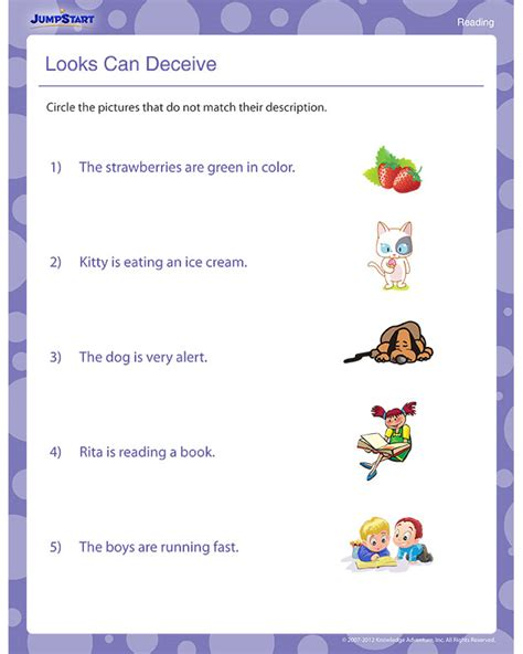 Looks Can Decieve looks can deceive view free 1st grade reading worksheets