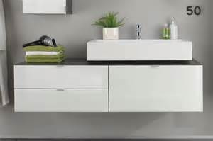 meuble sous lavabo suspendu design gris blanc laqu 233