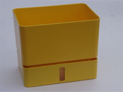 Plastic Planter Boxes For Sale mod tuppercraft yellow block planter box vintage