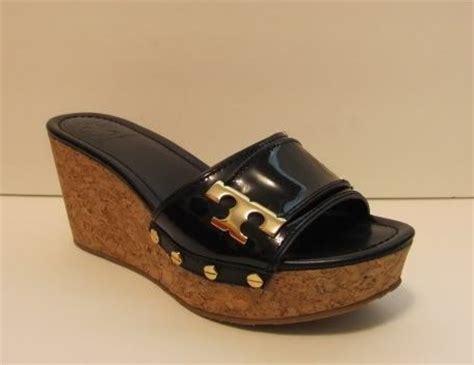 Mossimo Parry Patent Cork Slide Wedges by Burch Black Cork Slide Wedge Sandal 9 5 Shoe