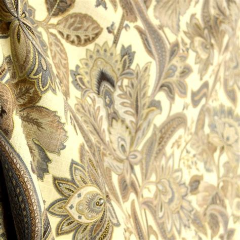 fabric home decor fabric jacobean floral fabric 1 by valdosta driftwood paisley jacobean floral fabric