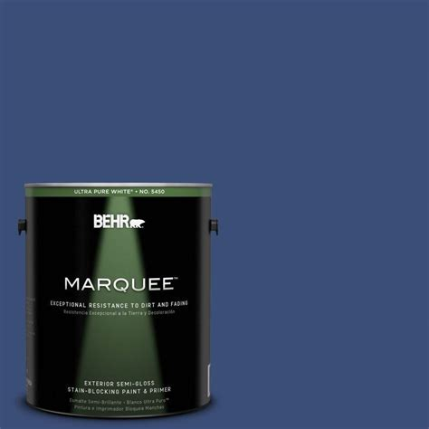 behr exterior paint primer colors behr marquee 1 gal p530 6 indigo batik semi gloss enamel