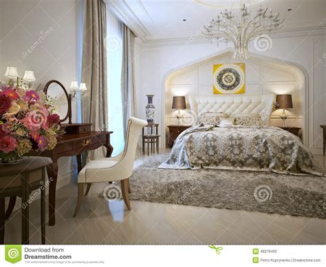 chambre style orientale style d de chambre 224 coucher illustration stock