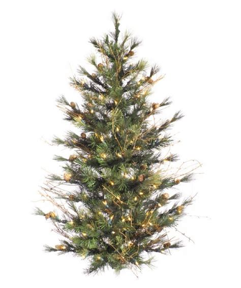 vickerman mixed country pine slim pre lit christmas tree