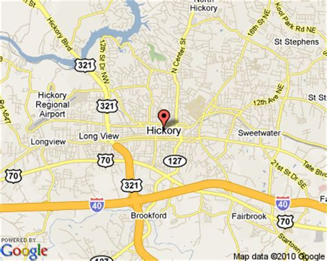 hickory carolina map hickory carolina