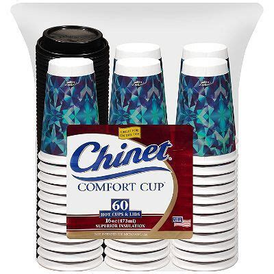 chinet comfort cups chinet comfort cup and lids 60 ct each tea party