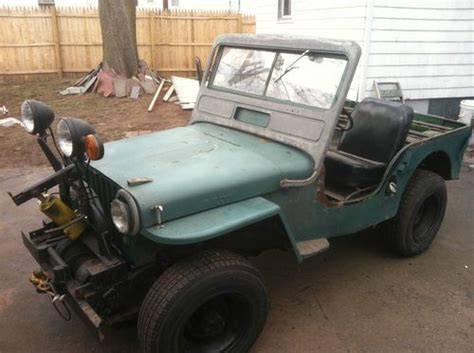 Jeep Pto Buy New Willys Jeep Cj2a Complete Tops Doors Extras Runs