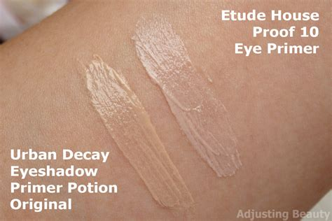 Eyeshadow Etude decay eyeshadow primer potion original vs etude