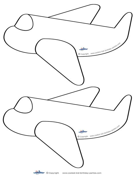 airplane cut out template blank printable airplane shaped invitations coolest free