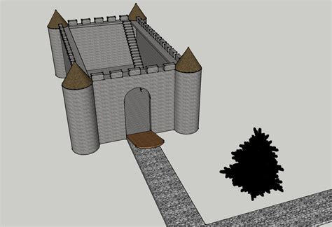 google sketchup castle tutorial cad drawings