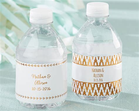Wedding Water Bottle Labels by Personalized Copper Foil Water Bottle Labels My Wedding
