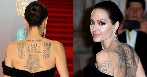 angelina jolie back tattoo tattoo collections
