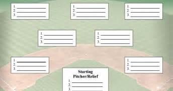 Baseball Depth Chart Template baseball depth chart template baseball lineup card