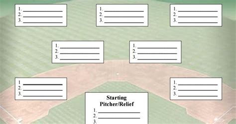 baseball depth chart template printable baseball depth