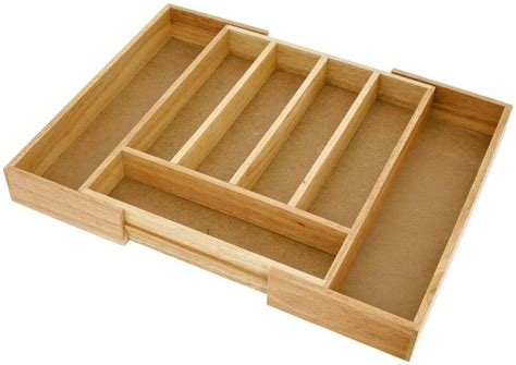 Cutlery Inserts For Drawers by Expanding Wooden Cutlery Drawer Insert