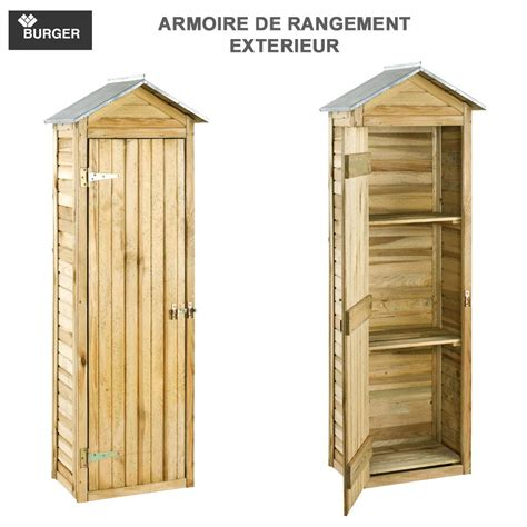 Armoire De Rangement Jardin by Armoire De Rangement De Jardin 63 X 43 X 181 Cm Burger