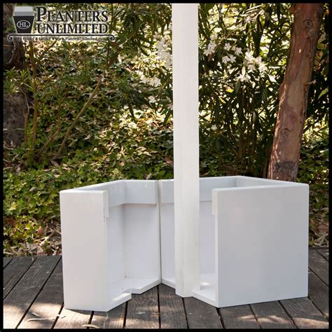Deck Post Planters by Custom Post Planters L Post Planter