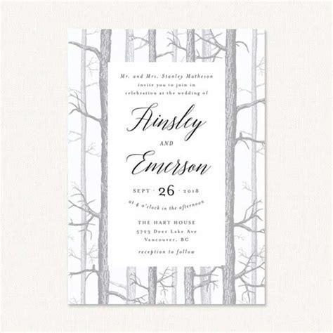 Winter Themed Wedding Invitations