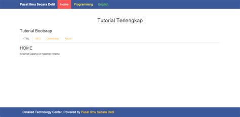 tutorial membuat index html source code aplikasi tutorial bootstrap cara membuat tab