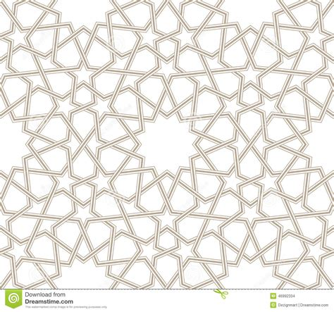 islamic style seamless pattern vector free download geometric star pattern grey lines with white background