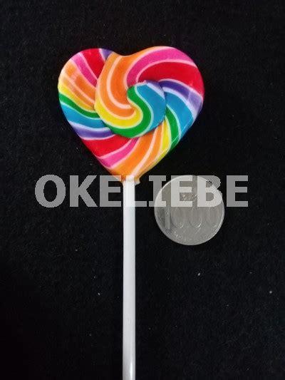 Beruang Satu Dus permen lolipop mini okeliebe lollipop