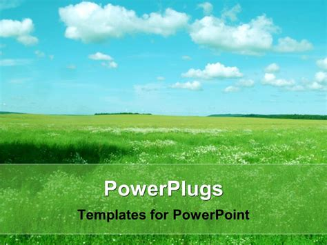 Landscape Powerpoint Template powerpoint template landscape with green field blue sky