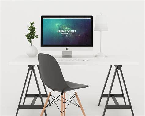 Home Office Desk Imac Imac Presentation Mockup Mockupworld