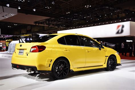 yellow subaru wrx subaru turns the wick on wrx sti with 328ps s207 limited