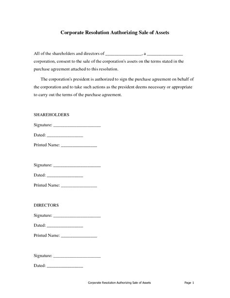 corporate resolution authorized signers template corporate resolution authorized signers template 28