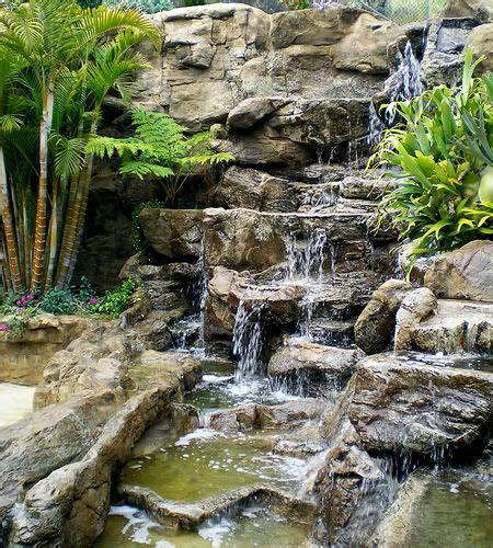 Rock Waterfalls For Gardens Best 25 Rock Waterfall Ideas On