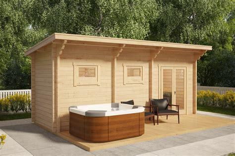 sauna cabin sauna cabin oliver ii 11m 178 70mm 6 x 2 m hansa24