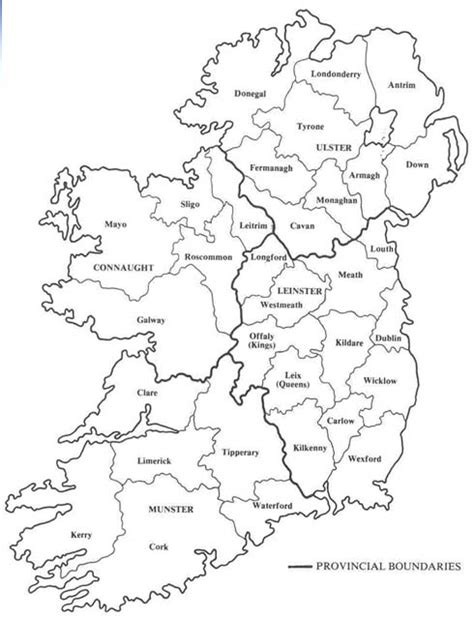 printable map ireland counties towns maps by theme admin to wind map collections at ucd and