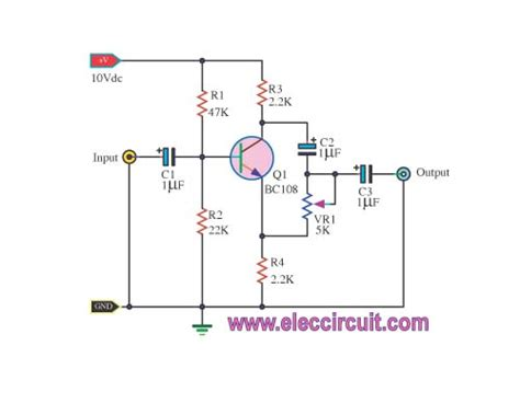 transistor lifier phase shift single transistor phase shifter electronic projects circuits