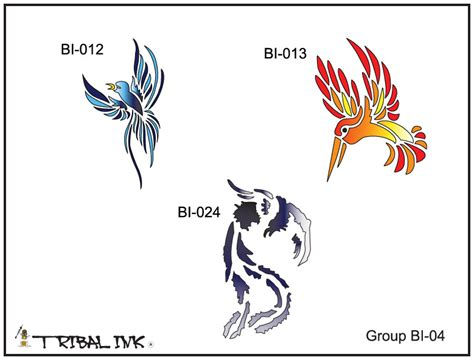 airbrush tattoo stencils airbrush stencil set bird 04