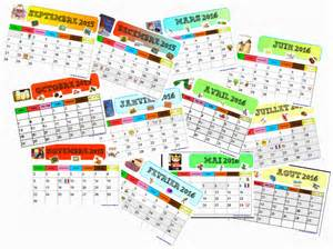 Calendrier 2016 Vierge Mensuel Calendrier Mensuel 2015 2016 Gijou 224 La Maternelle
