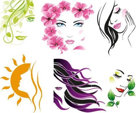 vectores de siluetas completamente gratis recursos photoshop rostros de mujeres buscar con google pelu deco
