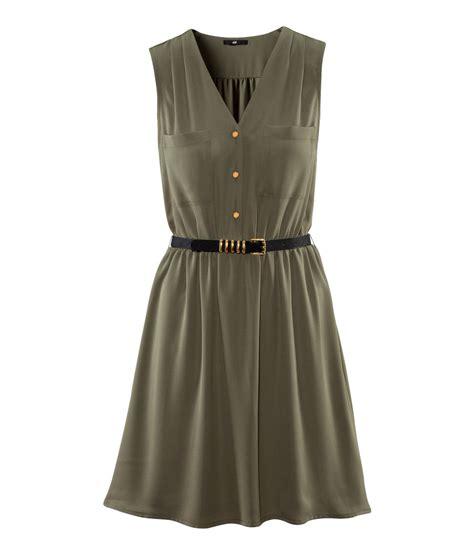 Hm Dress h m dress in green lyst