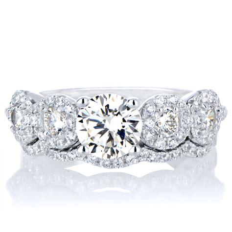 kathia s 5 cz antique style wedding ring set