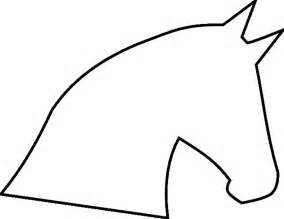 horse head template sketchfu clipart best clipart best