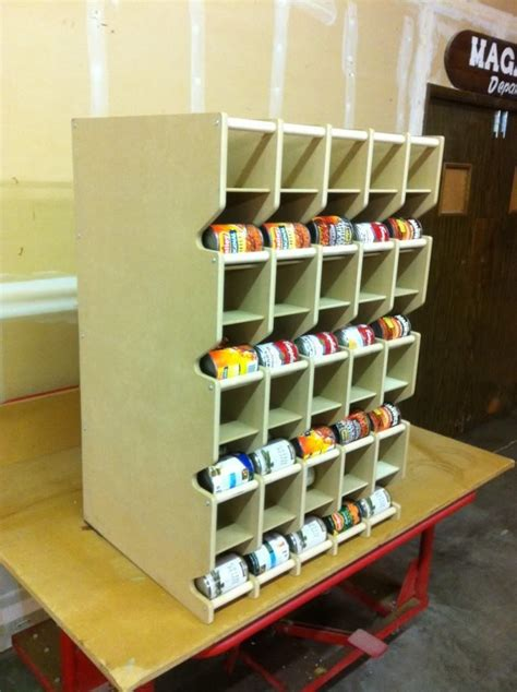 rangement chambre froide my big project to tackle a can rotation shelf this